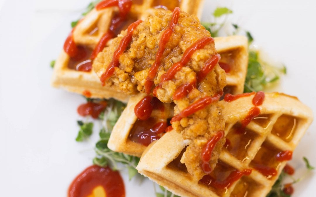 Sweet and Spicy Chicken and Waffles